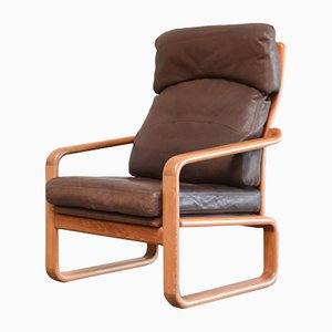Vintage Teak & Leather Lounge Chair from Holstebro