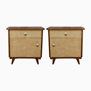 Nightstands with Compass Feet, 1950s, Set of 2