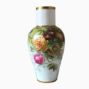 Art Nouveau Porcelain Floral Vase from S. Pope