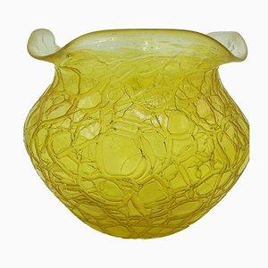 Große Jugendstil Glasvase