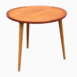 Mid-Century Modern Danish Circular Teak Side Table, 1960s