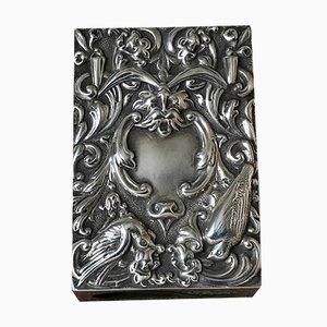 Scatolina per fiammiferi antica in argento sterling di William Comyns & Son, fine XIX secolo