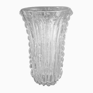 Jarrón de vidrio de Ercole Barovier para Barovier & Toso, años 60