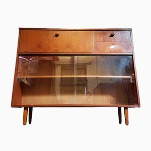 Mid-Century Teak & Glass Highboard