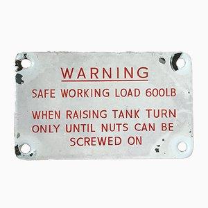 Small Enamel Railway Warning Sign, 1950s