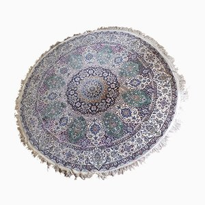 Large Round Vintage Persian Carpet