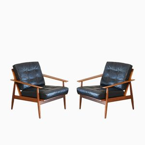 Danish Leather Easy Chair from Wilhelm Knoll, 1960s