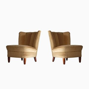 Swedish Easy Chairs, 1950s, Set of 2