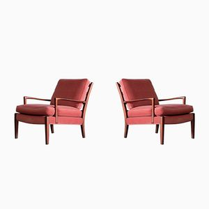 Model Löven Lounge Chairs by Arne Norell, 1960s, Set of 2