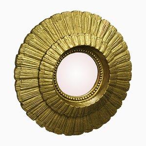 Vintage Spiegel mit Goldrahmen in Sonnen-Optik, 1960er