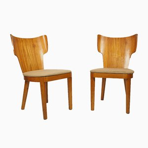 Bentwood Chairs, 1940s, Set of 2