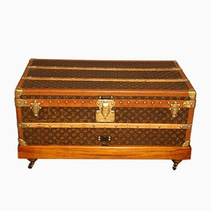Monogrammed Canvas Steamer Trunk from Louis Vuitton, 1920s