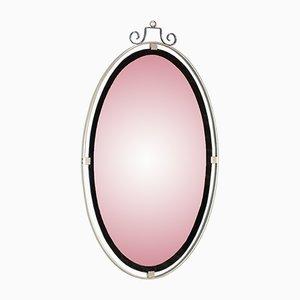 Espejo colgante cromado, años 50