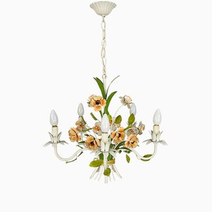 Mid-Century French Wrought Iron Chandelier