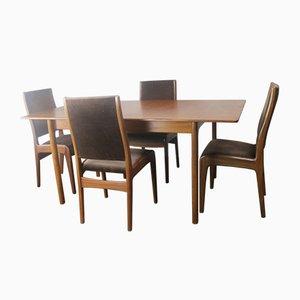 Esstisch & 4 Stühle Set von G-Plan, 1970er