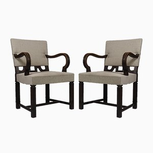 Director's Armchairs by Birger Hahl, 1928, Set of 2