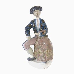 Figurina di un matador in porcellana di Julio Fernandez per Lladro, anni '70