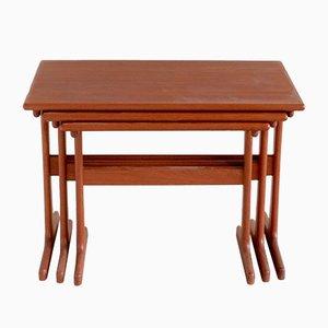 Set de 3 Tables Gigognes par Kai Kristiansen pour Vildbjerg Møbelfabrik, 1960s