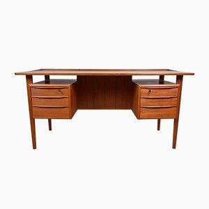 Mid-Century Teak Desk by Peter Løvig Nielsen for Løvig, 1960s