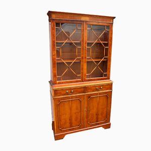 Walnut Cabinet with Glazed Display Case, 1960s