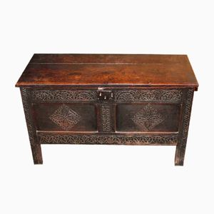 Antique Coffer in Carved Oak, 1880s