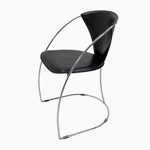 Schwarzer Sessel aus Sattellleder von Arrben, 1980er, 4er Set