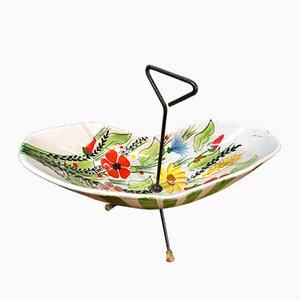 Plat à Gâteau en Céramique par Rometti Ceramica, 1950s