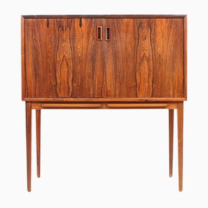 Mid-Century Rosewood Dry Bar Cabinet