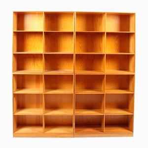 Bücherregale aus Kiefernholz von Mogens Koch für Rud. Rasmussen, 4er Set
