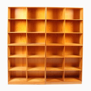 Pine Bookcases by Mogens Koch for Rud. Rasmussen, Set of 4