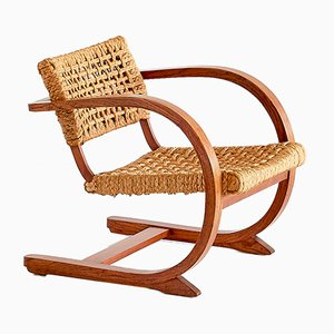 Dutch Oak & Rope Armchair by Bas Van Pelt, 1936