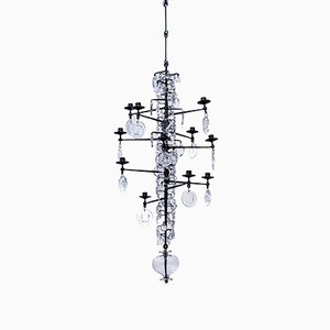 12-Arm Chandelier by Erik Höglund for Boda, 1950s