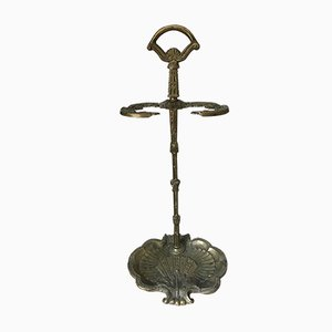 Victorian Acanthus Umbrella Stand in Brass, 1880s