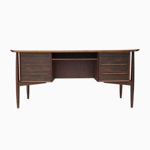 Schreibtisch aus Rosenholz von H.P. Hansen, 1960er