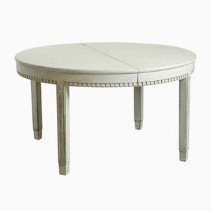 Large Gustavian Extendable Dining Table