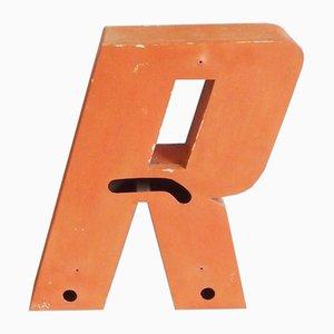 Vintage Metal Letter R