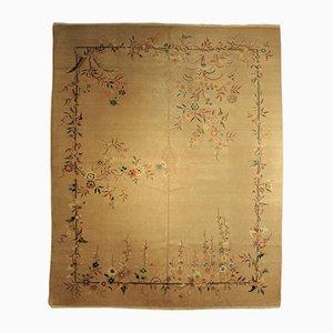Chinesischer Art Deco Flora Teppich, 1920er