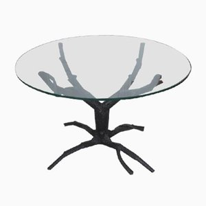 Metal Tree Trunk Coffee Table, 1980s