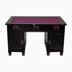Art Deco Desk in Black & Lilac, 1920s