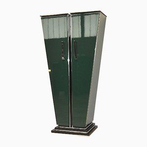 Large Art Deco Green Cabinet by Elien Chopardt, 1930s
