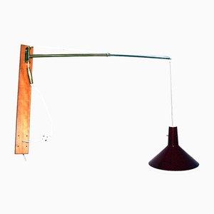 Vintage Telescopic & Swiveling Wall Lamp by Rupert Nikoll