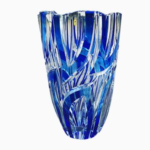Vase Vintage Bleu de Nördbohm, 1950s