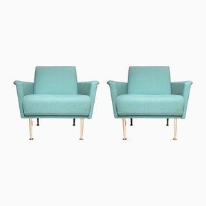 Mid-Century Messing Stühle, 1950er, 2er Set