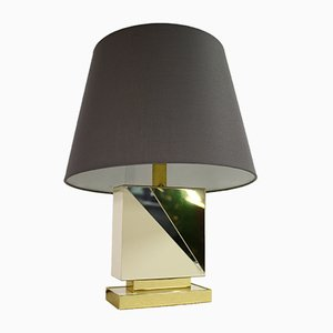 Vintage Brass & Chrome Table Lamp, 1970s