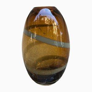 Vase en Verre Murano Ambre, 1950s