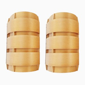 V155 Pine Sconces by Hans-Agne Jakobsson for AB Markaryd, 1950s, Set of 2