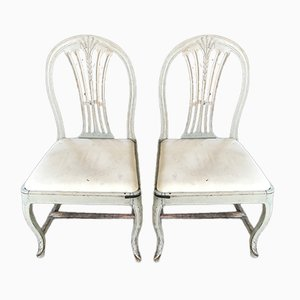 Antique Side Chairs, Set of 2