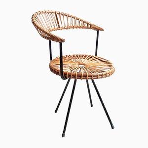 Vintage Rattan Chair by Dirk van Sliedregt for Gebroeders Jonkers Noordwolde