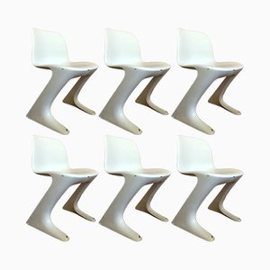 Kangaroo Z Chairs by Ernst Moeckel & Siegfried Mehl for VEB Petrochemisches Kombinat Schwedt, 1960s, Set of 6