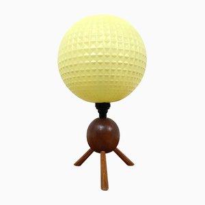 Lámpara de mesa atómica vintage con trípode